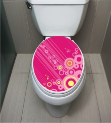 WC Sticker Pink Circle