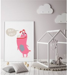 Monster HRU HRU  als Posterdruck