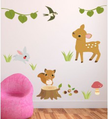 Wandsticker forest animals Set