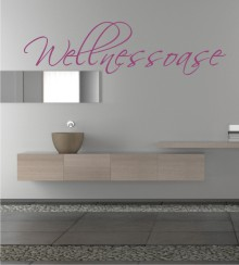 Wellnessoase als Wandtattoo
