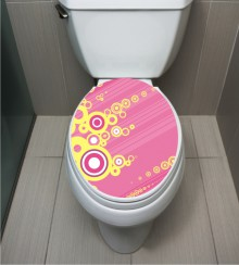WC Sticker Yellow Circle