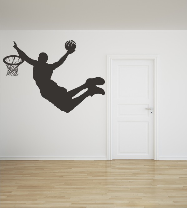Basketballer als Wandtattoo