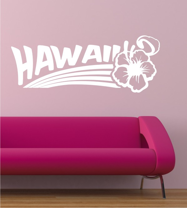 Hawaii als Wandtattoo