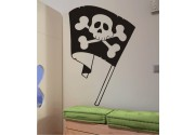 Piratenflagge als Wandtattoo